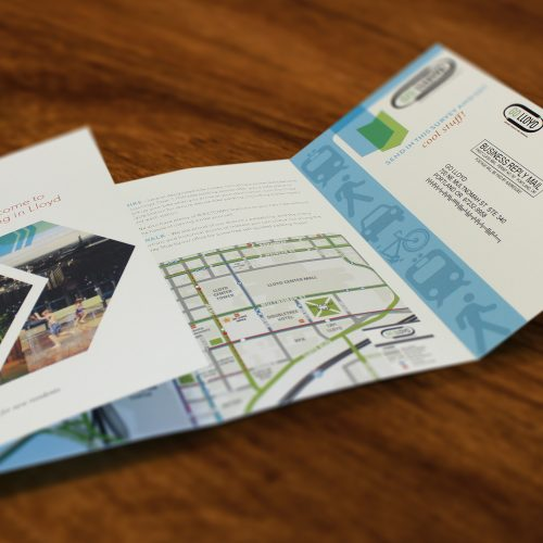 Brochure with Response Card // Printing and Finishing // Mailing