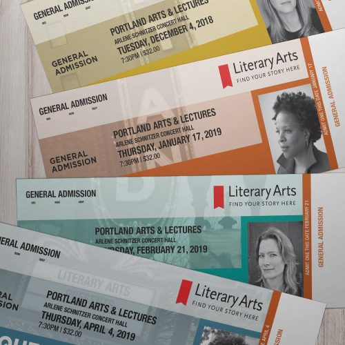Event tickets // Production art // Variable print and finishing
