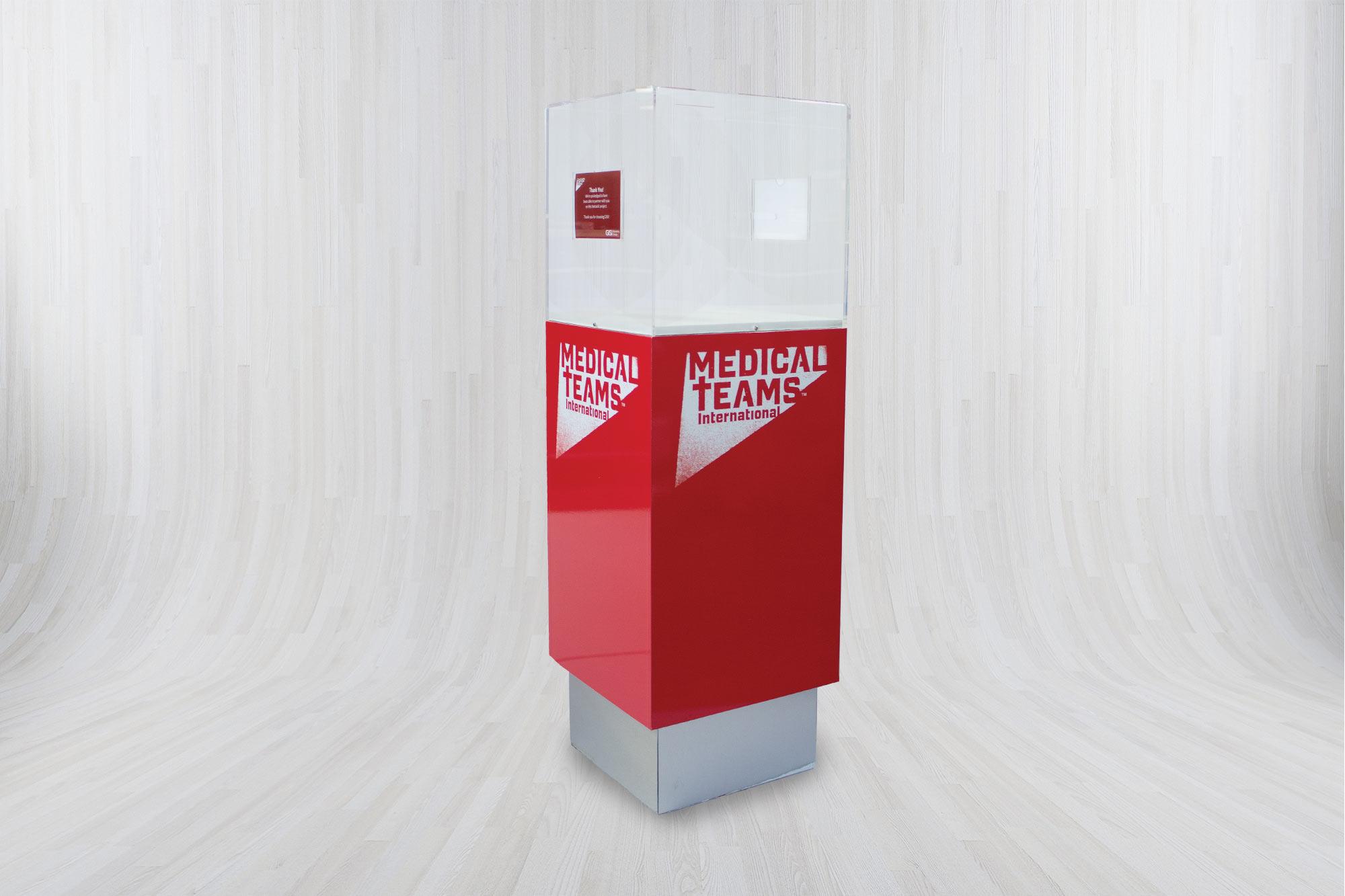 Custom Donation Box for Medical Teams